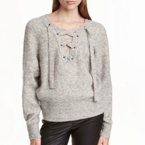 H&M Trend Mohair and Wool Blend Sweater